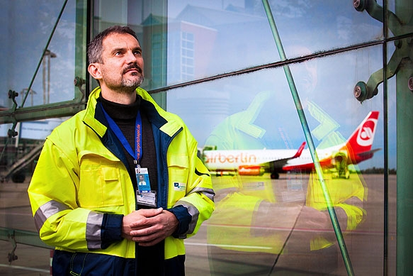 Clemens-Michael Kluge ist der Seelsorger am Dresdner Flughafen