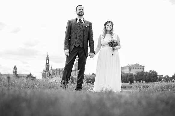 Hochzeitsfotografie Elbufer Dresden