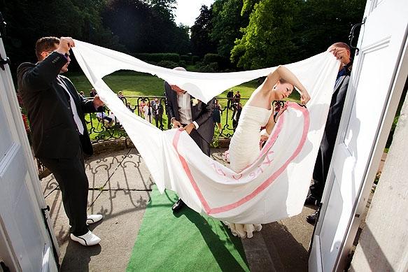 Hochzeitsfoto - Herzausschneiden