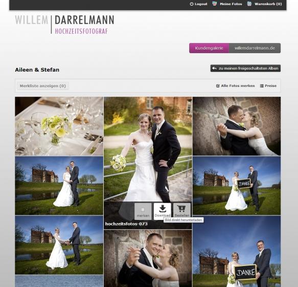 Hochzeitsfotograf - Neue Online-Galerie mit Download-Funktion
