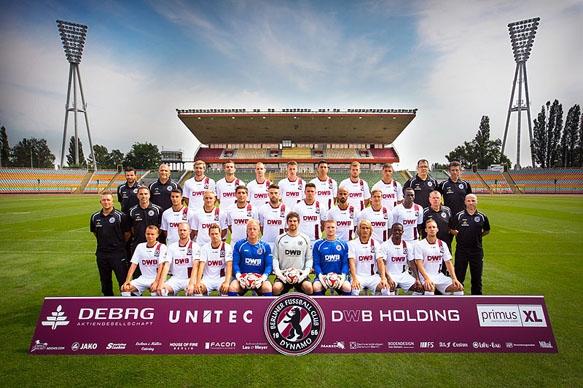 Werbefotografie - Mannschaftsbild BFC Dynamo im Berliner Jahn-Sportpark