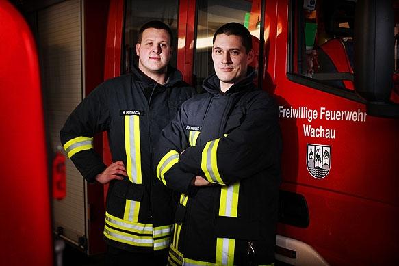 Pressefotograf - Portrait Kameraden der freiwilligen Feuerwehr