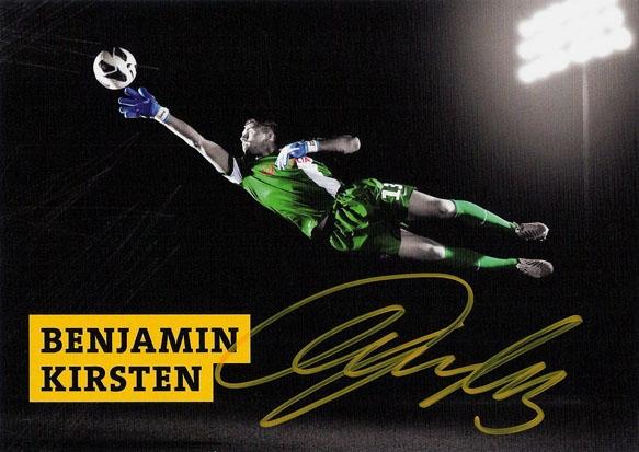 Firmenfotograf - Autogrammkarte der SG Dynamo Dresden mit Benny Kirsten