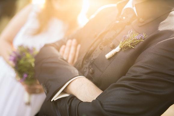 Hochzeitsfotografie Details im Gegenlicht