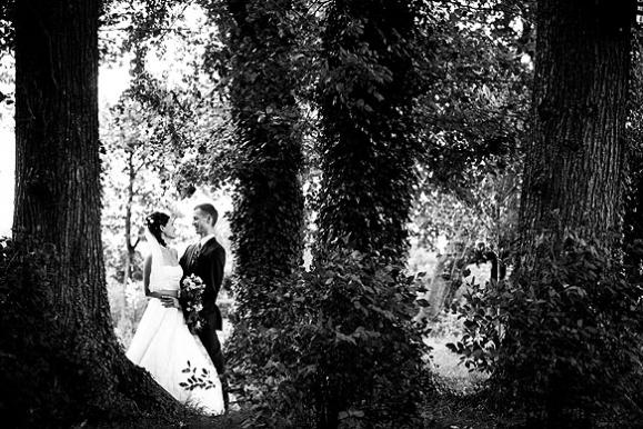 Hochzeitsfotograf - Hochzeitsportraitim Park der Vila Teresa in Coswig