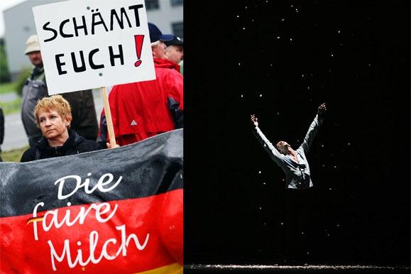 Fotojournalist - Bauernproteste gegen Müller Milch & Balett in der Semperoper