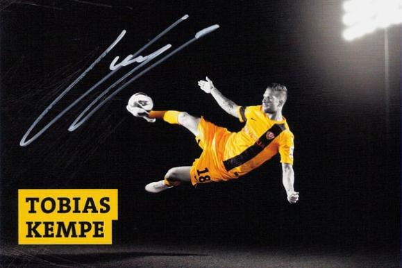 Firmenfotograf - Autogrammkarte der SG Dynamo Dresden mit Tobias Kempe