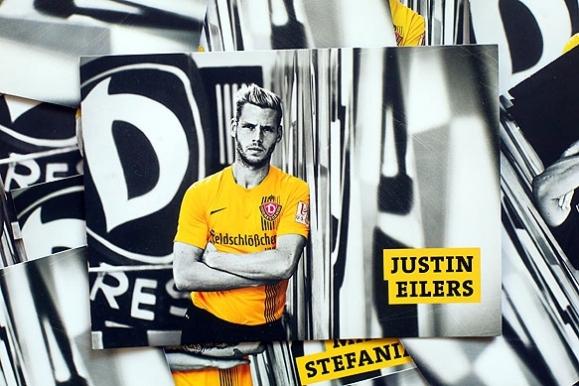 Firmenfotograf - Autogrammkarte der SG Dynamo Dresden mit Lynel Kitambala